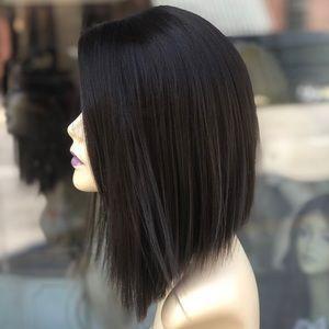 Dark Brown Angle cut bob Wig Lacefront 2019